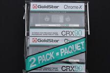 2x GOLDSTAR CR-X90 (tipo II) Cromata Vuoto Audio cassette (made in Korea) © 1986