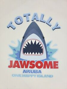 LOT/20 SHARK Totally Jawsome Tshirt Vinyl Heat Press Iron on Transfers Aruba