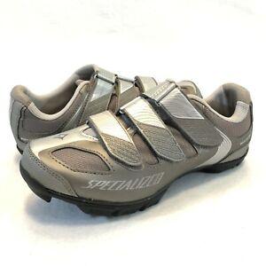 Specialized Riata Titanium/Silver Mountain Biking Shoe Women's 38 EU - 7.25 US