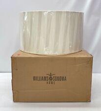 "NEW Williams Sonoma Linen Drum Lamp Shade~18"" diameter x 10"" tall~Ivory"
