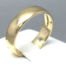"9CT YELLOW GOLD UNISEX PLAIN BROAD ""WEDDING BAND"" RING SIZE ""T""   1872"