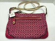 New Coach 50288 Poppy Signature C Metallic Outline East/West SwingPack
