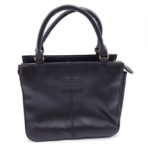 RELIC Black Leather Purse Satchel Handbag