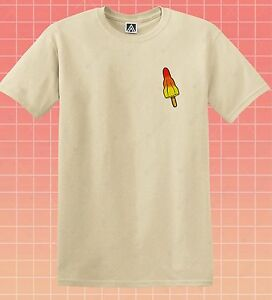 Rocket Lollipop T-shirt Icecream Summer Holiday Tee Lick Ice Fresh Pocket Top