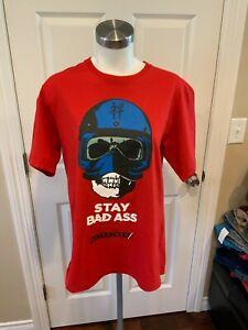"Undercover Jun Takahashi ""Stay Badass"" Skull Red T-Shirt, Size 3 (Medium), NWT!"