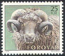 Faroes/Faroe Islands 1979 Sheep Rearing/Farming//Ram/Animals/Nature 1v (n32576)