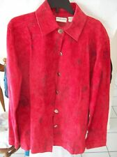 Chico's Suede 100% Leather Jacket Size 0