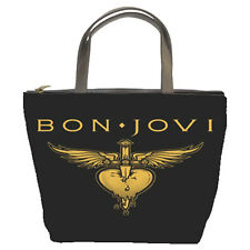 BON JOVI Logo Custom Bucket Bag/Purse(2  Side)-NEW