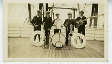 1930s Photo of the President Wilson Steamship Band w/ Accordian Guitar Violin