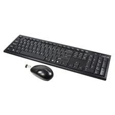 LogiLink ID0104 Wireless Tastatur und Maus Set Funk Kabellos Keyboard DE Schwarz