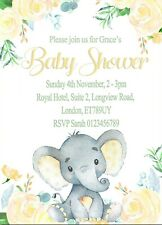 Personalised Baby shower Invitations Baby Naming Party & Envelopes x12 d