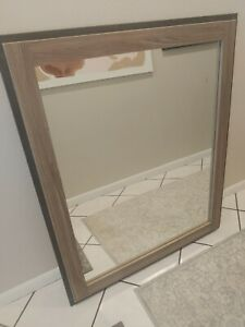 Big Mirror Brown & Toupe for Wall or Bathroom Statement piece!!
