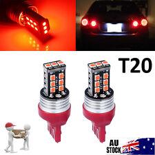 2pcs RED T20 7440 7443 LED INDICATOR CAR TURN SIGNAL UTE 4WD LIGHT BULB GLOBE AU