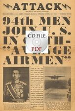 CD File 2x The Attack Newspapers 94th Infantry Division Doolittle Raid WW2 PDF