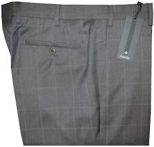 $425 NEW ZANELLA NORDSTROM DEVON HEATHER GRAY WINDOWPANE 130'S DRESS PANTS 40