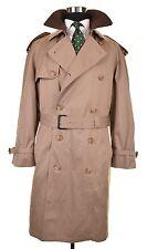Hart Schaffner Marx Smart Coat Khaki Wool Liner Overcoat Top Trench Rain Coat 40