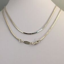 Paola Romero 925 Sterling Silver Box Chain Necklace 30""