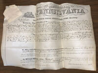 1838, LUZERNE COUNTY PENNSYLVANIA, LAND TRANSFER DOCUMENT ON VELLUM, JAMESON