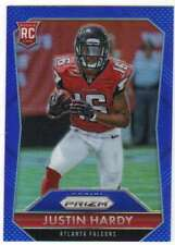 2015 Panini Prizm Rookies Blue Prizm Refractor RC #254 Justin Hardy Falcons