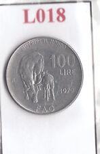 L018 Moneta Coin ITALIA Repubblica Italiana 100 Lire 1979 Comm. FAO 1° Tipo