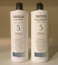 NIOXIN System 5 Cleanser & Scalp Therapy / shampoo & conditioner 33.8 oz/1 Liter