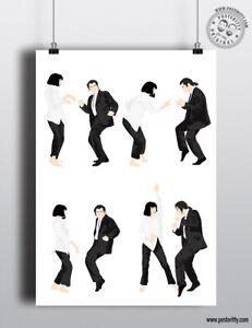 PULP FICTION - Minimalist Dance Compilation Poster Posteritty Minimal Art Print