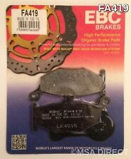 Suzuki GSXR1000 (2007 to 2008) EBC Kevlar REAR Brake Pads (FA419) (1 Set)