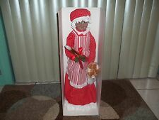 """Holiday Living 28"""" African American Animated Musical Mrs. Claus ~ NIB"""