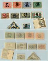 Lithuania 🇱🇹 1922 SC C21-C31 mint . rt5529