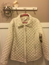 NWOT CATO WOMAN 22-24W 3X WHITE Jacket COAT QUILTED Puffer  Plus Size Barn Style