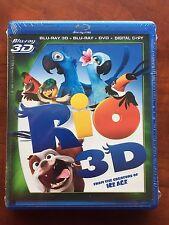 Rio  Four Disc = Blu-ray 3D +Blu-ray + DVD + Digital Copy New Free Ship 4 disc