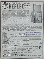 PUBLICITE REFLEX OBJECTIF COOKE  APM APPAREIL PHOTO ALTREX DE 1927 FRENCH AD PUB