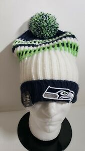 🔥🔥OFFICIAL SEATTLE SEAHAWKS NFL NEW ERA WOMEN'S POM BEANIE Hat NWT🏈🏈