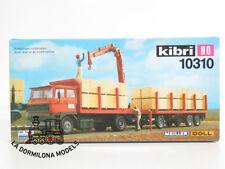 KIBRI 10310 H0 CAMION DAF TRUCKS con REMOLQUE y GRUA MEILLER DOLL MADERA - NUEVO