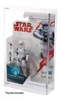 "Star Wars Last Jedi Force Link 3.75"" Carded Action Figure Acrylic Display Case"