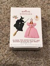 Wizard of Oz Glinda the Good & Wicked Witch 2019 Hallmark 2 Ornament Qxe3197