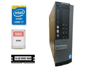 Dell 9020 SFF, i7 4th gen, 16GB RAM, Win10 PRO @ 128GB SSD + 500GB HDD Data Bank