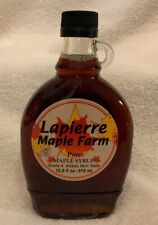 Lapierre Farm Quebec Canada Pure Maple Syrup 12.5 Ounce Grade A Amber 1 Bottle