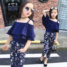 Girls Clothes Sets Kids Fashion Tops Floral Pants Children Summer Outfits Suit