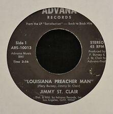 RARE BLACK GOSPEL MODERN SOUL FUNK Jimmy St. Clair ADVANA Records 10013