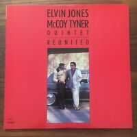 ELVIN JONES McCOY TYNER Quintet Reunited 1986 BKH 521 US ORIGINAL VINYL LP