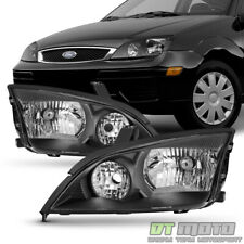 Black 2005 2006 2007 Ford Focus ZX4 Headlights Headlamps Aftermarket Left+Right