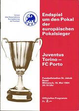 EC II - CWC Finale 83/84 Juventus Turin - FC Porto, 16.05.1984 in Basel
