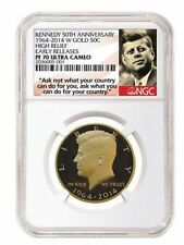 2014 W Gold Kennedy Half 50th Anniversary NGC PF70 UCAM Early Releases +OGP