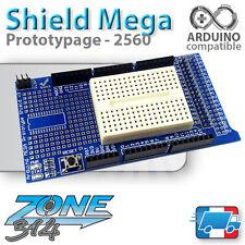 Carte d'extension prototypage Arduino MEGA 2560 + Breadboard 170 pts (Shield V3)