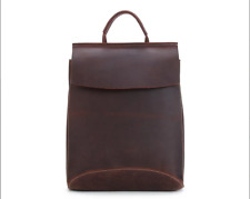 Handcrafted Vintage Style Top Grain Leather Travel School Unisex Backpack