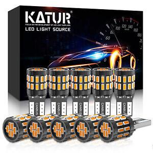 10x Amber LED T10 501 194 W5W 7020SMD Car CANBUS Error Free Wedge Light Bulbs