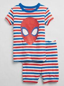 Gap Organic Cotton Marvel Spiderman Short Sleeve 2pcs Pj Set Sz 4  $34.99