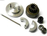 .21 + RC Nitro Engine 2 Shoe Clutch Flywheel Kit + Housing 6mm NUT
