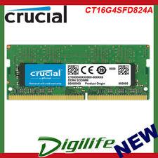Crucial 16GB DDR4 RAM SO-DIMM DDR4 2400Mhz PC4-19200 Laptop Memory CT16G4SFD824A